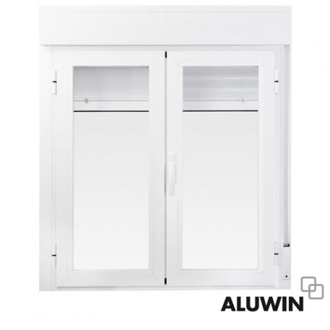 Ventana abatible dos hojas con persiana prefabricadas for Puertas prefabricadas precios