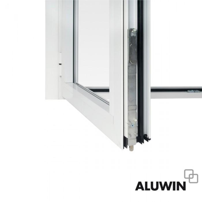 Puerta abatible dos hojas con persiana ventanas tipo for Puerta abatible