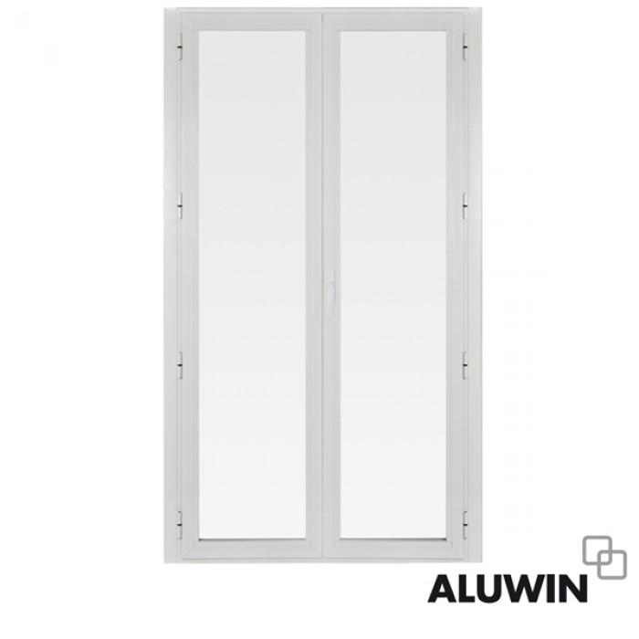 Puerta abatible dos hojas sin persiana ventanas de - Puertas de dos hojas ...