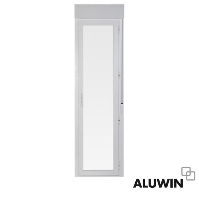 Puerta abatible una hoja rotura puente termico con - Puertas de aluminio doble hoja ...