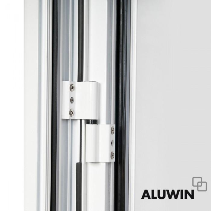 Puerta abatible una hoja sin persiana ventanas imitaci n - Puertas de aluminio imitacion madera ...