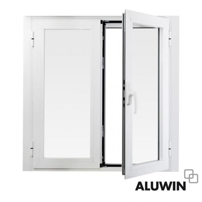 ventana abatible dos hojas sin persiana prefabricadas On ventanas prefabricadas de aluminio