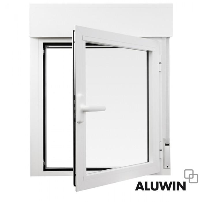 Ventana abatible una hoja con persiana doble for Precio ventanas aluminio climalit persiana