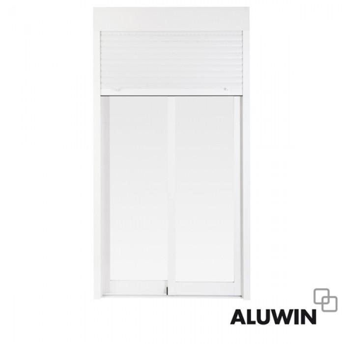 Puerta corredera con persiana prefabricadas ventanas y for Puertas prefabricadas