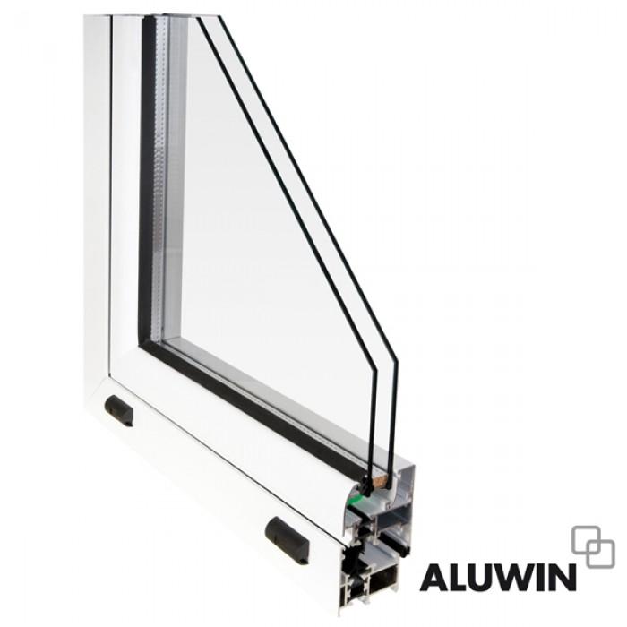 Puerta abatible una hoja rotura puente termico con persiana ventanas tipo climalit ventanas - Aluminio con rotura de puente termico ...