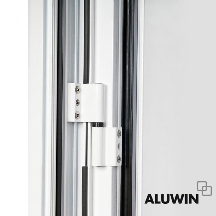 Ventana abatible una hoja con persiana doble - Puertas de aluminio doble hoja ...