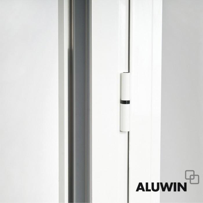 Puerta abatible una hoja con persiana doble - Puertas de aluminio baratas ...